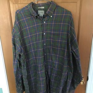 LL Bean plaid long sleeve shirt